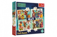 Puzzle 4v1 - Scoob! / Warner Scooby Doo - Scoob Movie v krabici