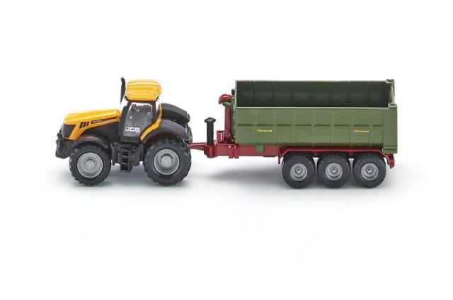 SIKU Farmer - Traktor JCB Fasttrac 8250 s kontejnerovým přívěsem, 1:87