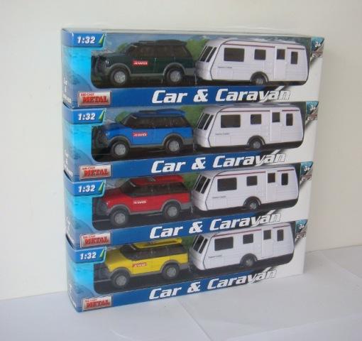 MAC TOYS 1:32 Auto s karavanem 4ass